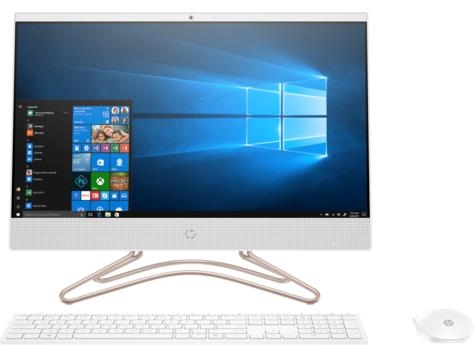 HP 24-f0079ur AiO PC / LCD 23.8 FHD AG LED UWVA ZBD 3-sided / Intel HD Graphics 620   / Core i5-8250U (1.6GHz, quad core) / RAM 4GB DDR4 2400 (1x4GB) / HDD 1TB 7200 / dvdrw / FreeDos 2.0 / White wired USB KB