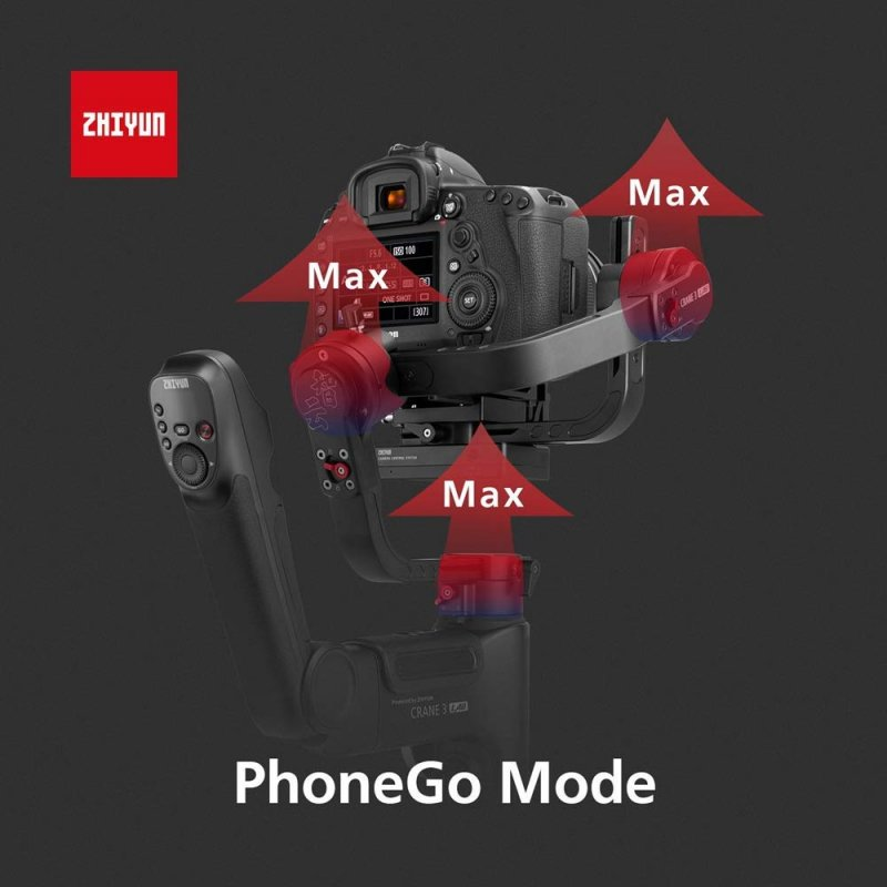 Zhiyun-Tech Crane 3-Lab Master Package, Crane 2 Upgrade Version 3-Axis Handheld Gimbal Stabilizer for DSLR Cameras, 1080P Full HD Wireless Image Transmission, ViaTouch, Dual Zoom & Focus Control