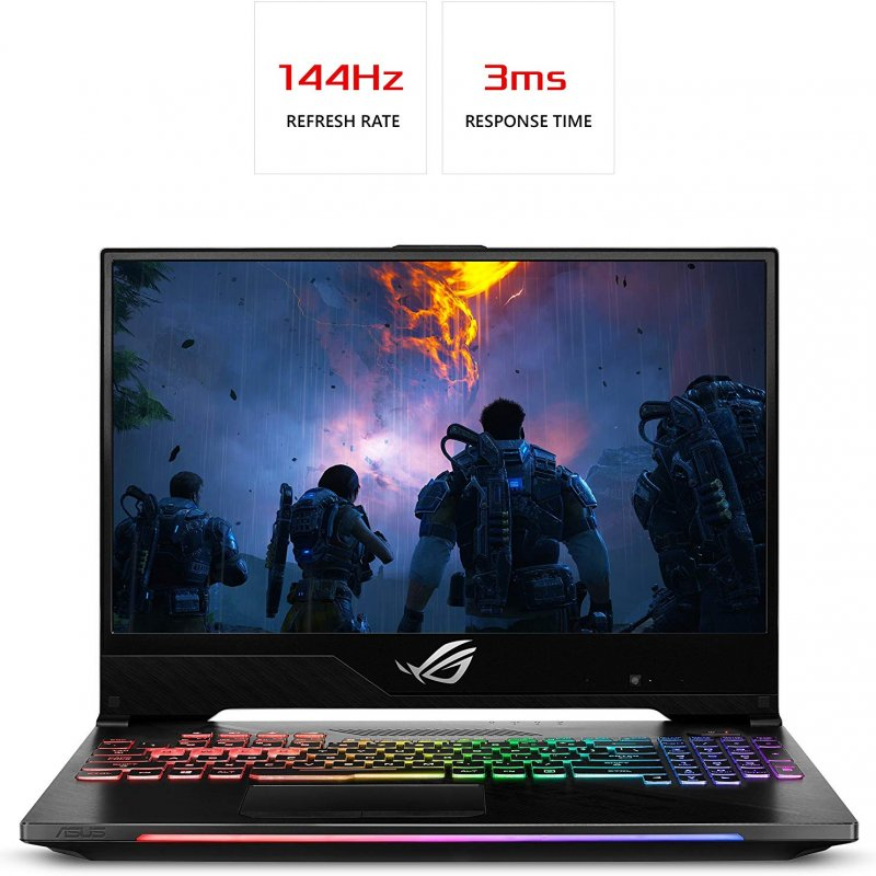 "Asus ROG Strix Hero II Gaming Laptop GL504GM-DS74 Intel Core i7-8750H Processor, NVIDIA GeForce GTX 1060 6GB GDDR5, 15.6"" 144Hz IPS Ram 16GB DDR4, SSD 256GB HDD 1TB Hdd Windows 10 Home"