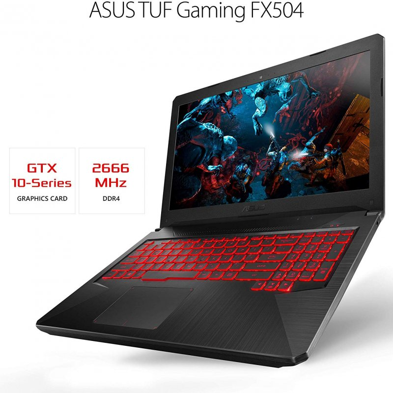 ASUS FX504GE-ES72 TUF Gaming Laptop Intel Core i7-8750H processor (up to 3.9GHz) Nvdia GeForce GTX 1050 Ti 4GB Ram 16 gb SSD 256GB 15.6 FHD Win 10