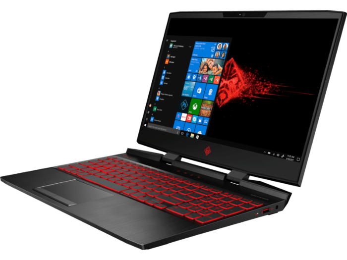 Hp Omen Gaming Laptop 15-dc1088wm Intel Core i7-9750H,  NVIDIA GTX 1660Ti 6GB,  Ram 16GB,  SSD 256GB,  15.6 Full HD IPS LED (144Hz) Omen Headset and Mouse Included, Windows 10