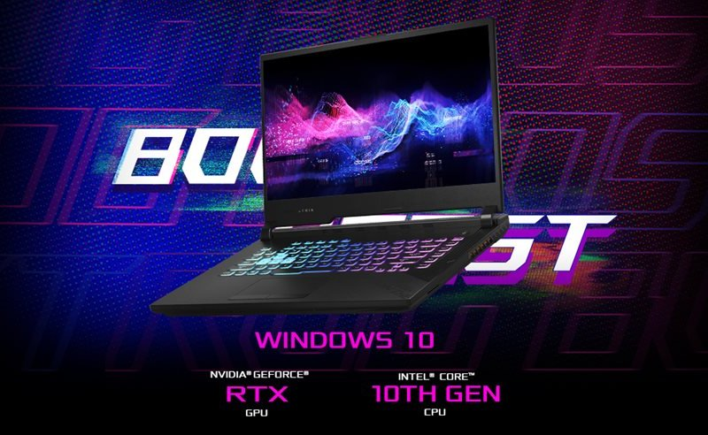 Asus ROG Strix G512LW-WS74 Gaming Laptop,  Intel Core i7- 10750H, Nvdia Geforce RTX 2070-8GB, Ram 16gb, SSD 512GB, LSD 15.6 FHD 144Hz, Win 10