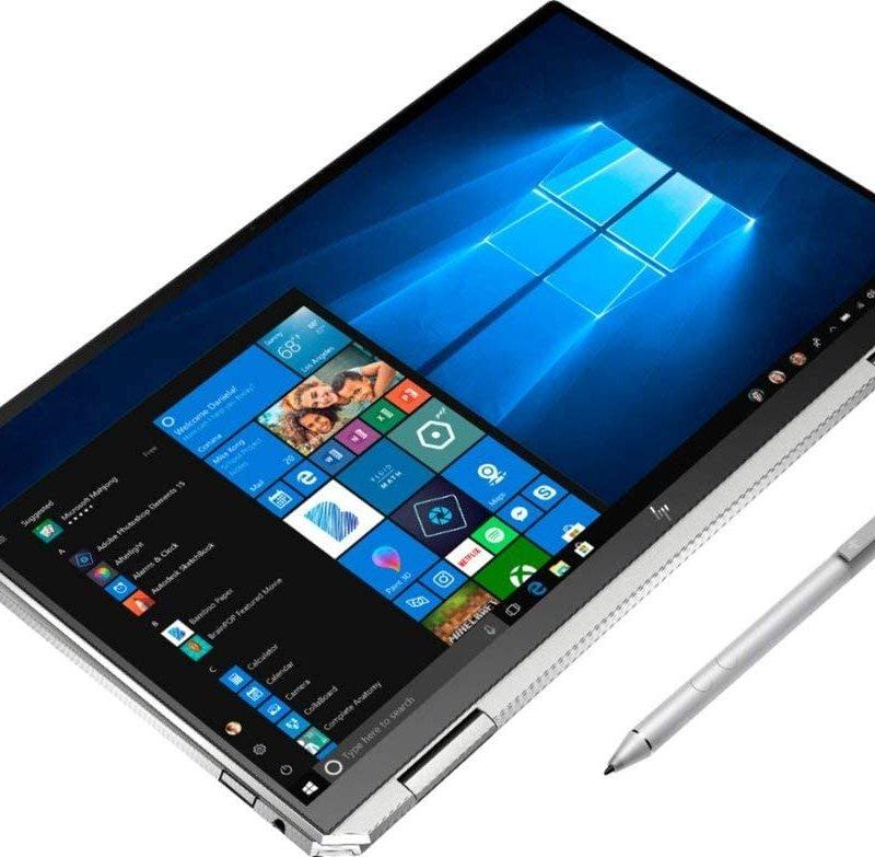 HP Spectre x360 2-in1 13-aw2003dx, Intel Evo Platform Core i5, 8GB LPDDR4 3200 MHz, SSD 512 GB+32GB Optane, 13-4k OLED Touch-Screen Laptop. Intel Iris Plus Graphics, Windows 10.