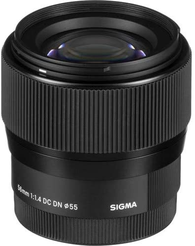 Sigma 56mm for E-Mount (Sony) Fixed Prime Camera Lens, Black